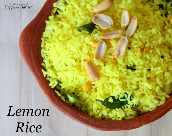 Lemon Rice With Roasted Peanuts