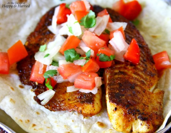 Pan Seared, Herb Crusted Tilapia Fillet With Salsa