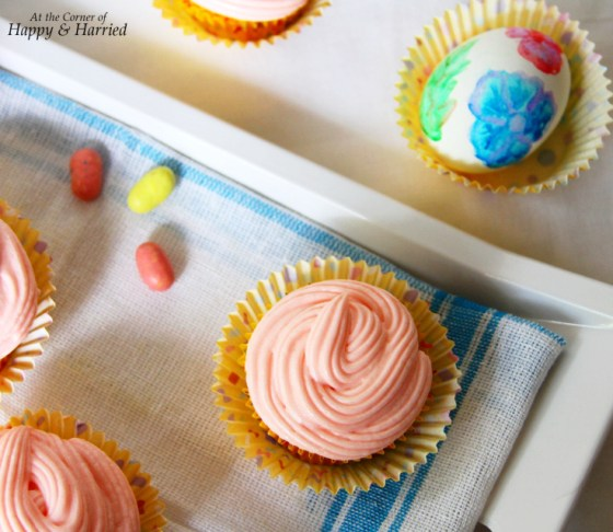 Spring Cupcake And Watercolor Easter Egg