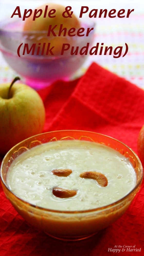 Apple & Paneer Kheer (Milk Pudding)