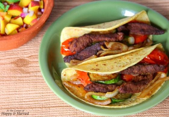 Fajita Style Steak Tacos