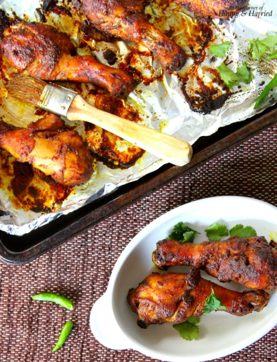 Indian Spiced Baked Chicken Legs With Soy Sauce Marinade