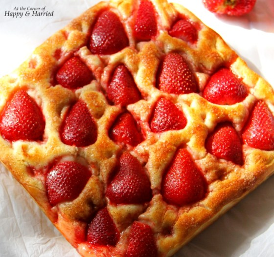 Strawberry Dotted Focaccia
