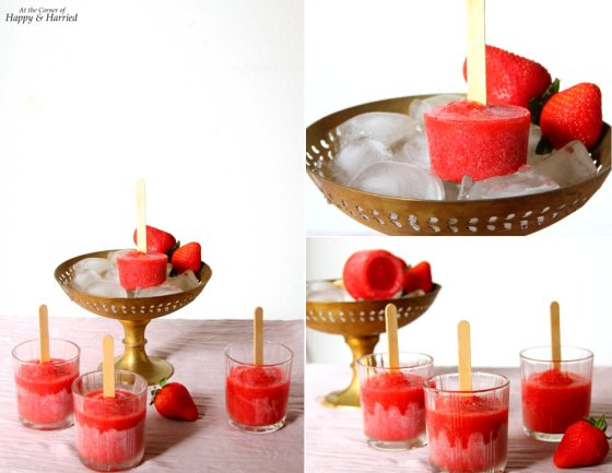 Sweet Strawberry Popsicles