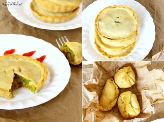 Baked Samosas With Potatoes-Peas Filling