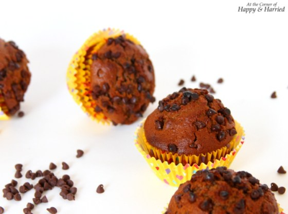Chocolate Muffins With Cocoa Powder and Chocolate Chips