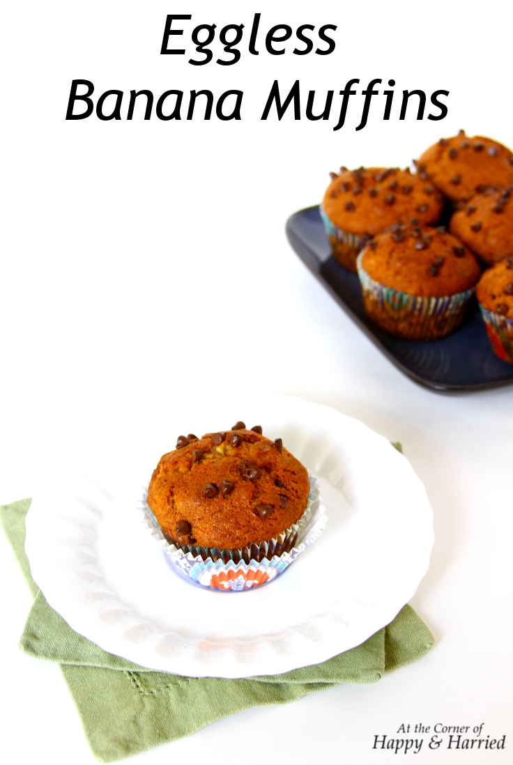 Eggless Banana And Chocolate Chip Muffins