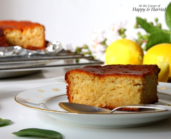 Honey Lemon Cake Slice