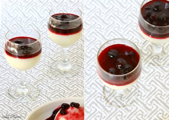 Sabudana (Tapioca Pearl) Pudding With Blueberry Sauce