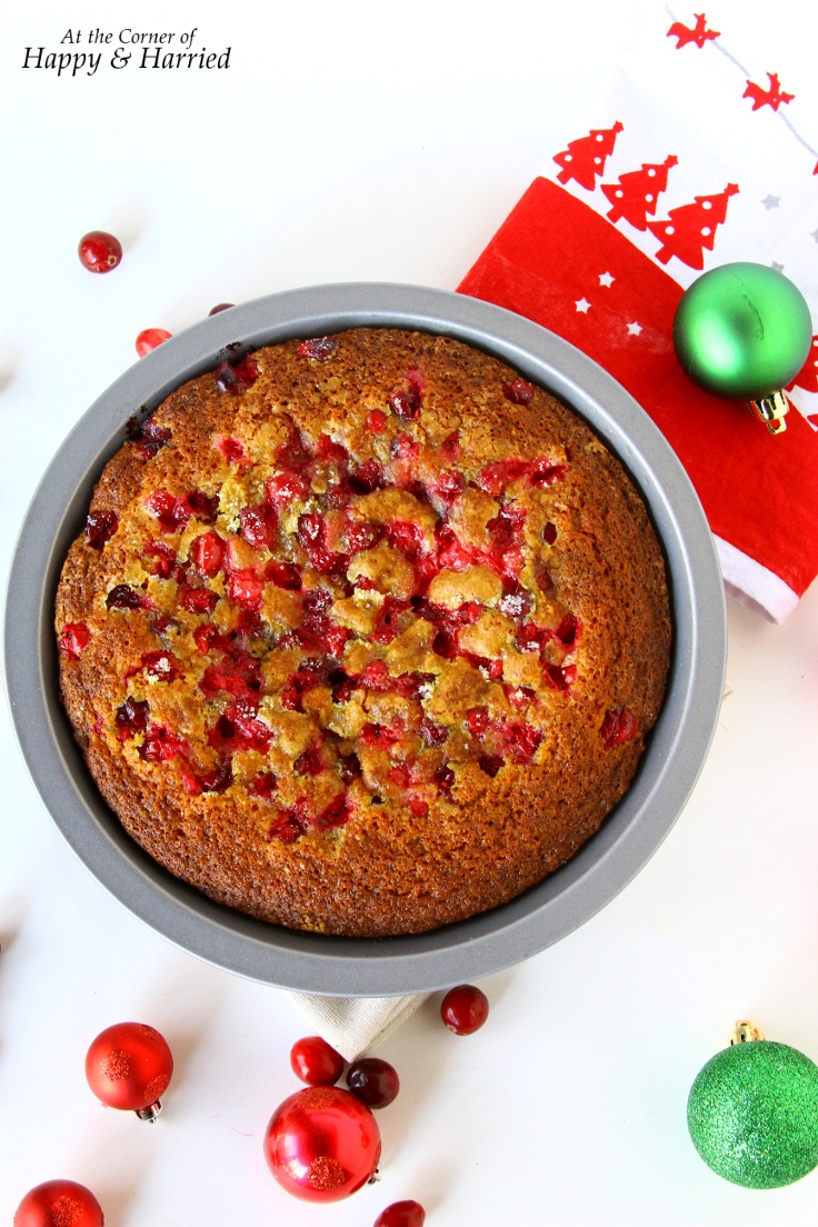 Rustic Cranberry Lime Cake