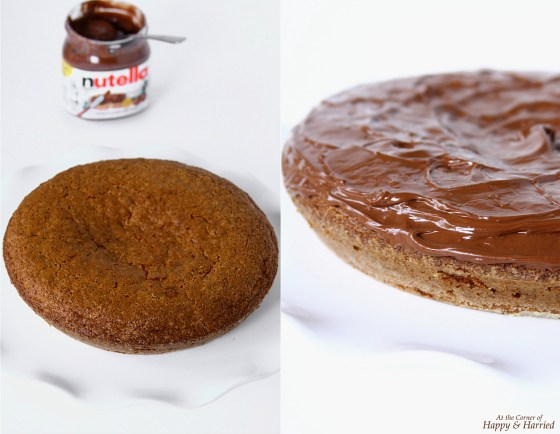 Cardamom And Vanilla Cake Topped With Nutella