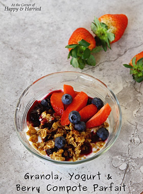 Granola, Yogurt And Berry Compote Parfait