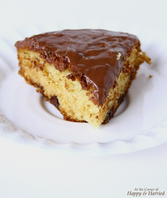Vanilla Cake Flavored With Cardamom And Nutella Topping