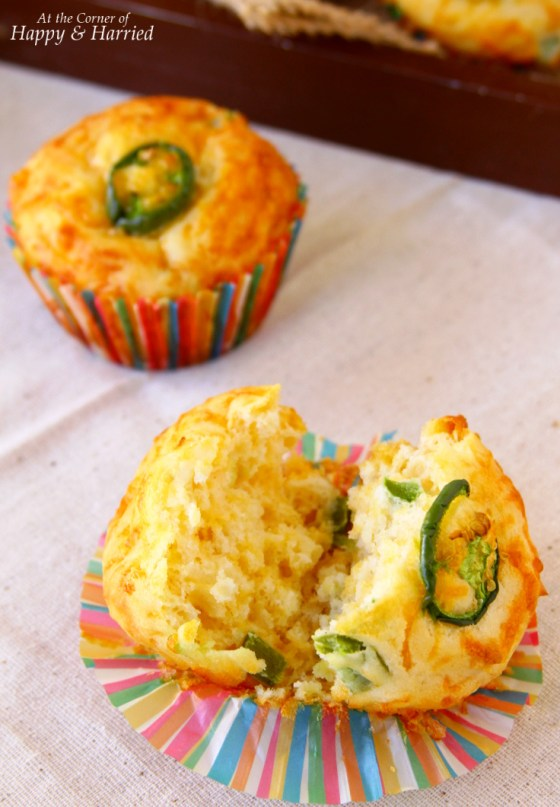 Fluffy Jalapeno Cheddar Muffins