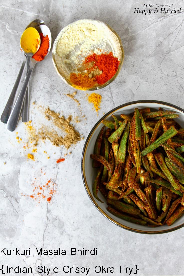 Kurkuri Masala Bhindi {Indian Style Crispy Okra Fry}