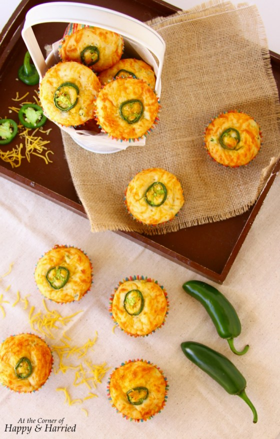 One Bowl Jalapeno Cheddar Muffins