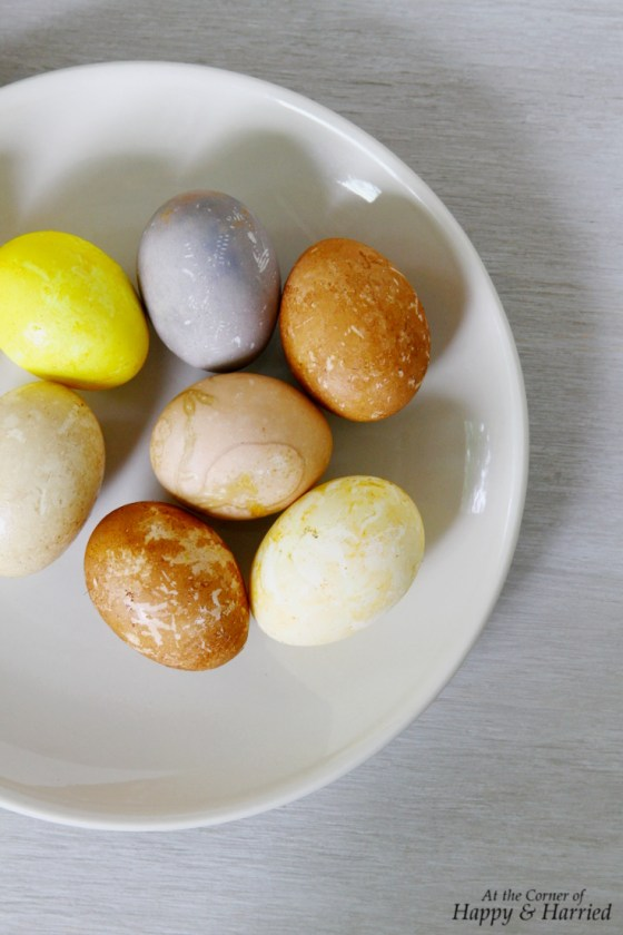 Soft Colored Easter Eggs Using Food as Dye Colors
