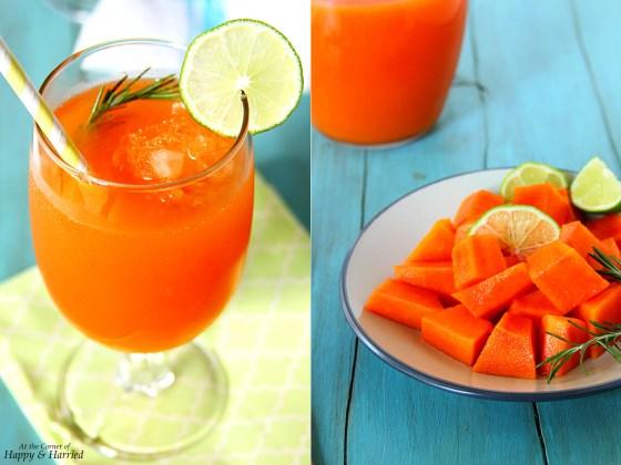 Papaya, Mango and Lime Agua Fresca
