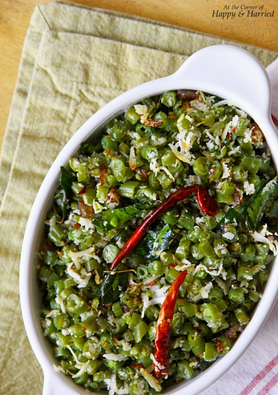 South Indian Green Beans Poriyal Or Thoran (Stir Fry With Coconut & Chilies)