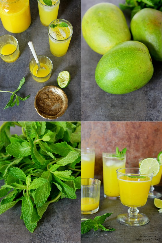 Aam Panna Drink (Sour Mango And Mint Cooler)