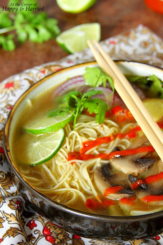 Asian Noodle Soup Bowl With Sriracha