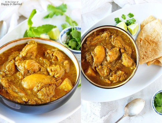Chicken Korma {Nilgiri Style With Cilantro, Mint And Coconut Milk}
