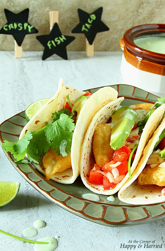 Fish Tacos With Jalapeno-Cilantro Yogurt Sauce