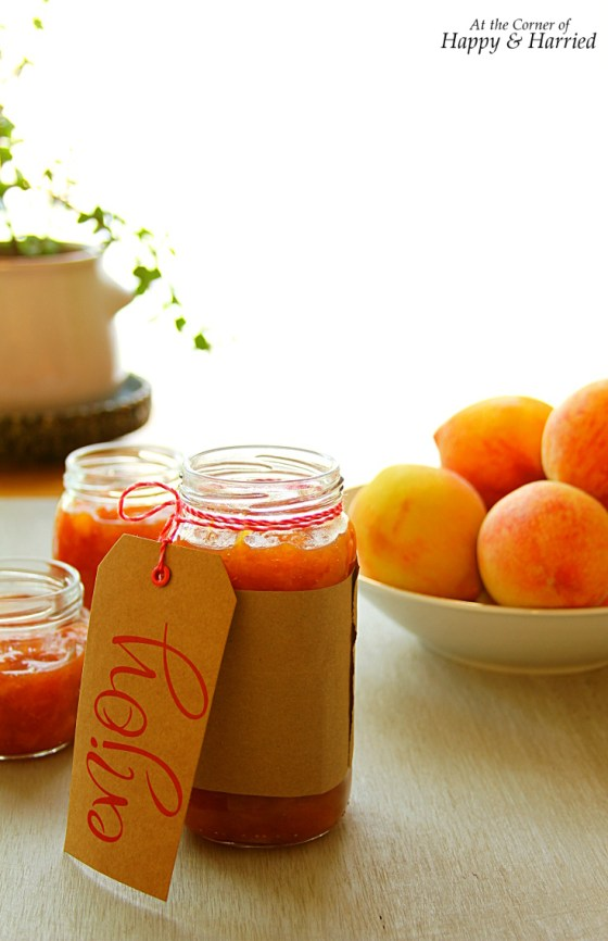 Homemade Peach-Vanilla Jam