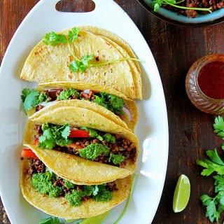 Ground Beef Tacos With Chimichurri Sauce