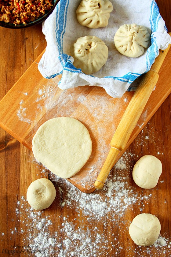 Making BAOZI {Chinese Steamed Meat Buns}