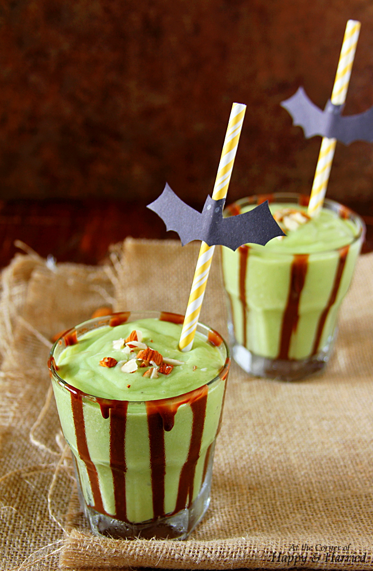 Avocado-Banana-Almond Halloween Green Monster Shake
