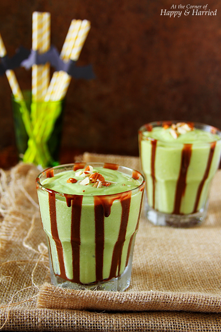 Avocado-Banana Halloween Green Monster Shake