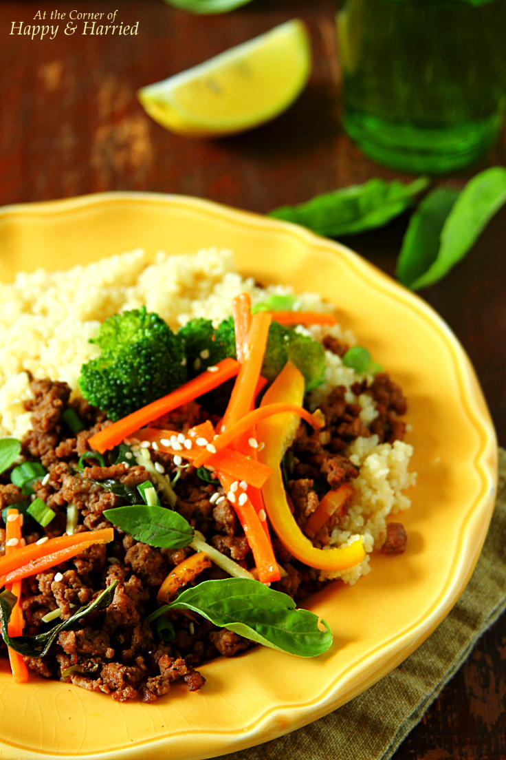 Thai Beef-Basil Stir Fry With Peppers