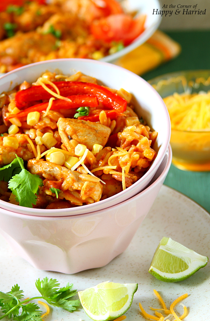 Cheesy Mexican Chicken & Orzo