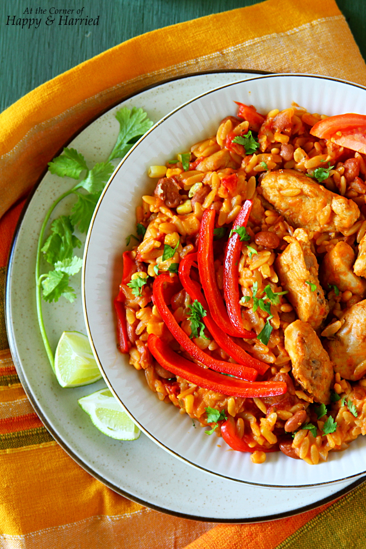 One-Pot Cheesy Mexican Chicken & Orzo