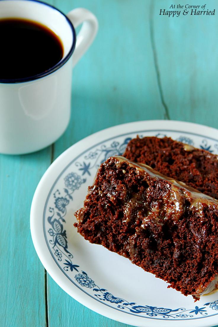 Peanut Butter Chocolate Cake With Peanut Butter Glaze