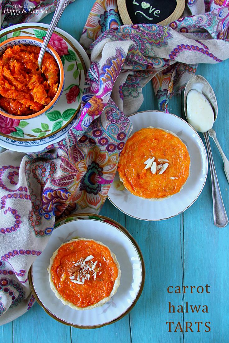 Carrot Halwa Tarts