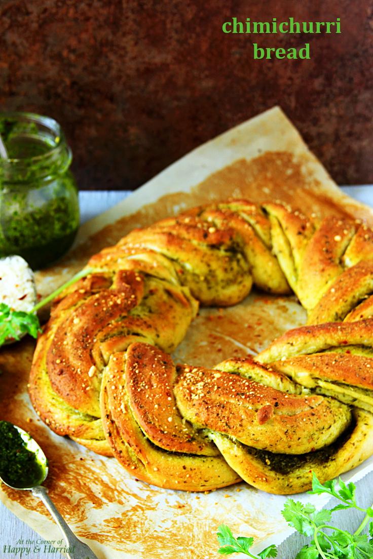 Chimichurri Sauce Braided Bread Wreath