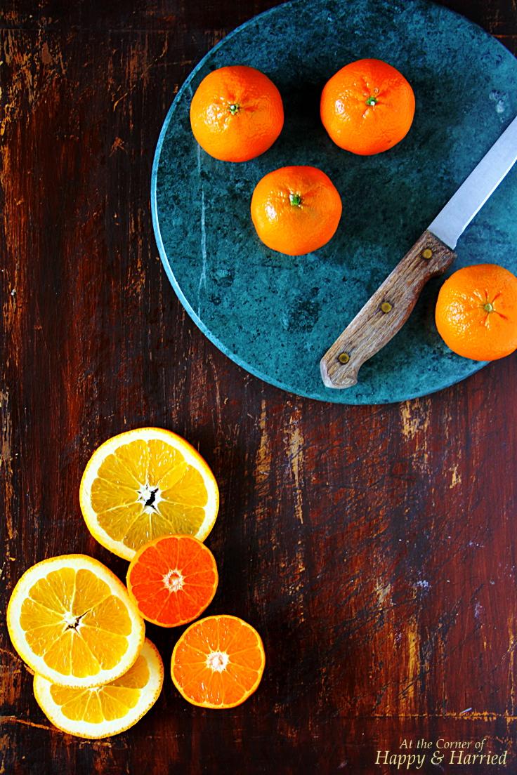 Citrus Fruit Cake Prep