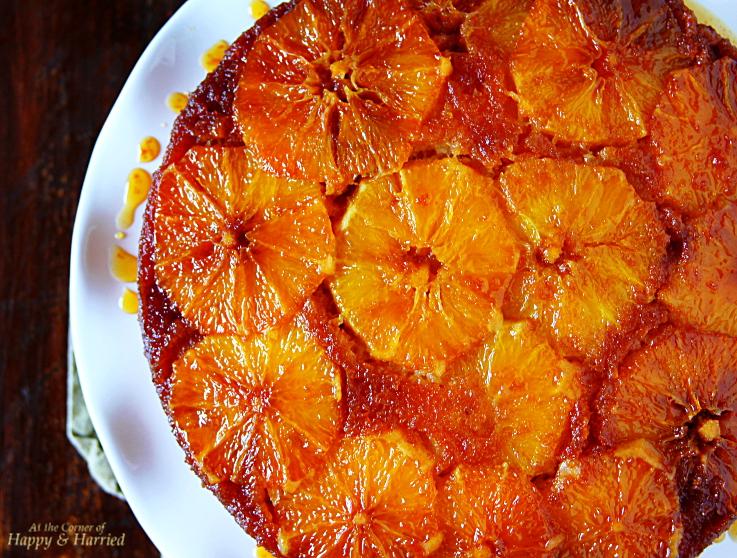 Upside-Down Caramel Orange Cake