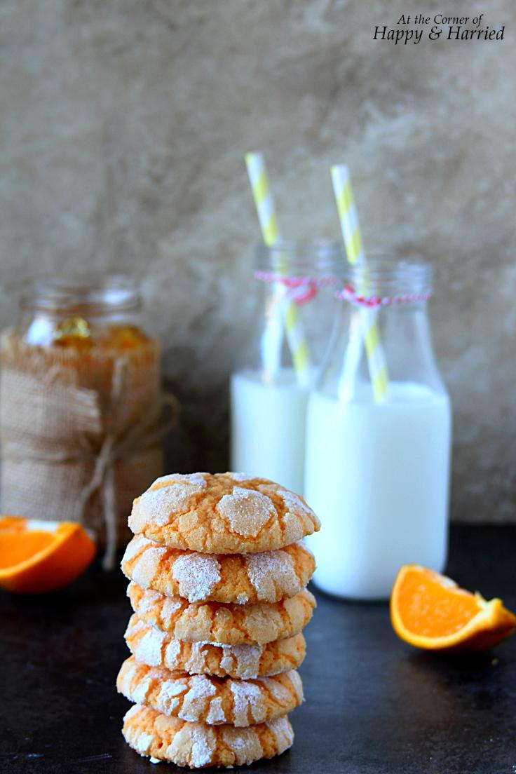 Chewy Orange Crinkle Cookies