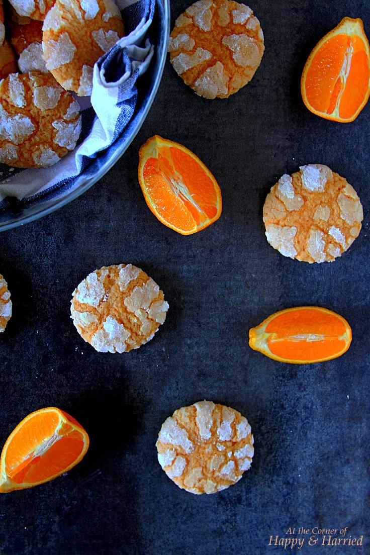 Easy Orange Crinkle Cookies
