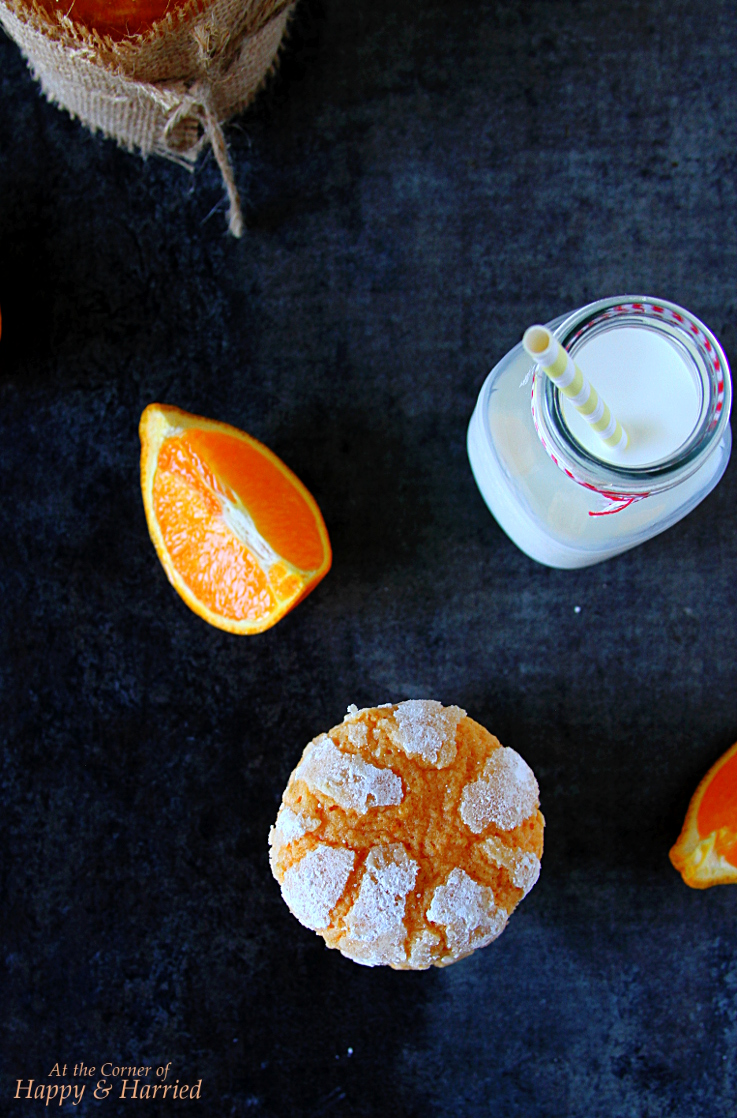 Fresh Orange Crinkle Cookies