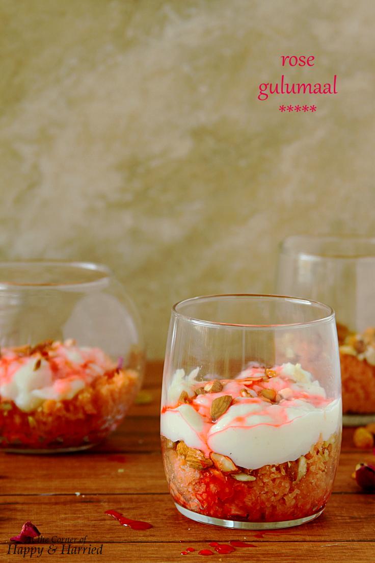 Rose Gulumaal Dessert {Meethi Seviyan Parfait}