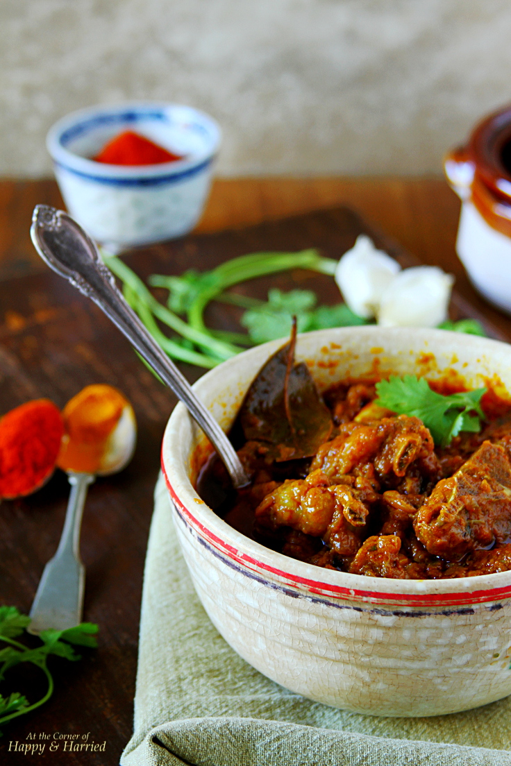 Spicy Goat Curry {Rajasthani Laal Maas}