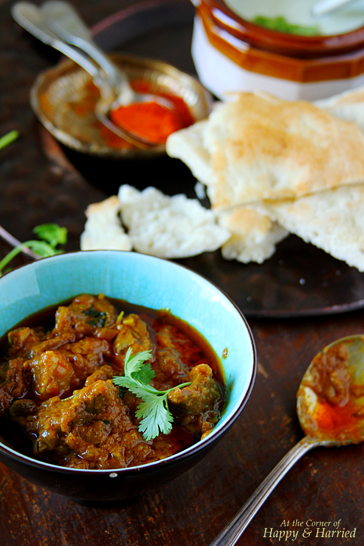 Spicy Red Mutton Curry {Rajasthani Laal Maas}