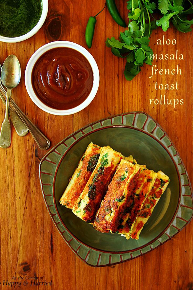 Savory Aloo Masala French Toast Rollups