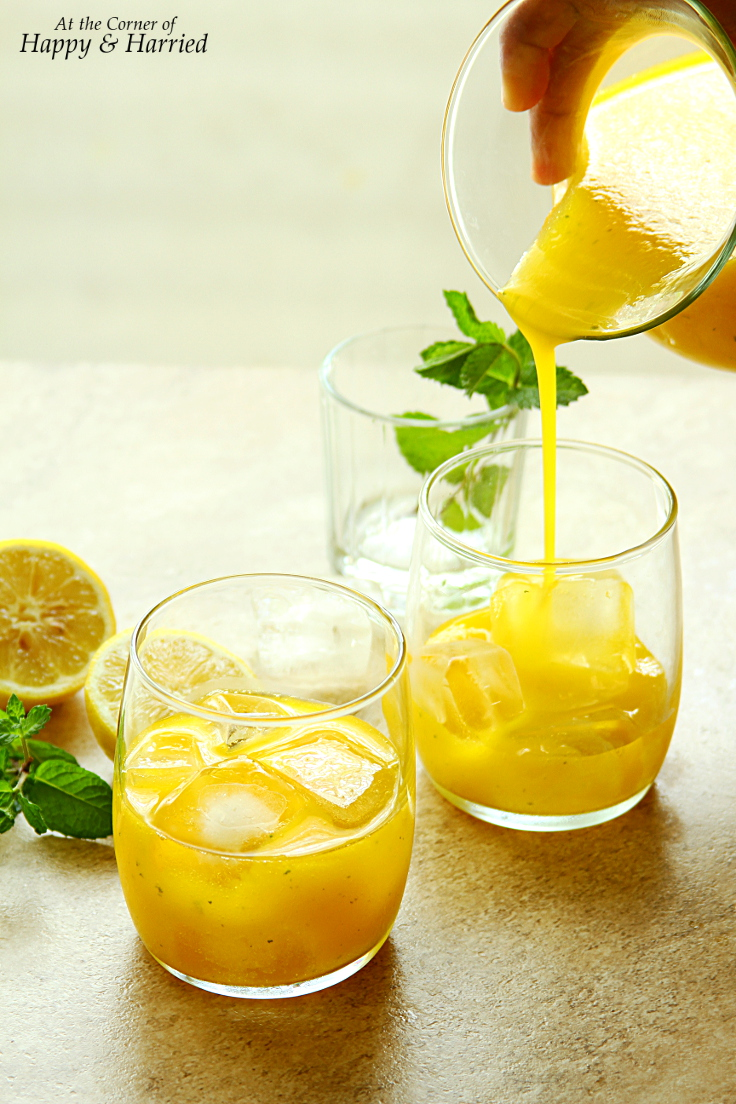 Sparkling Mango-Mint Lemonade