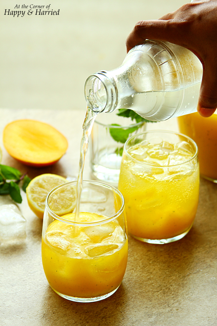Sparkling Mango Mint Lemonade