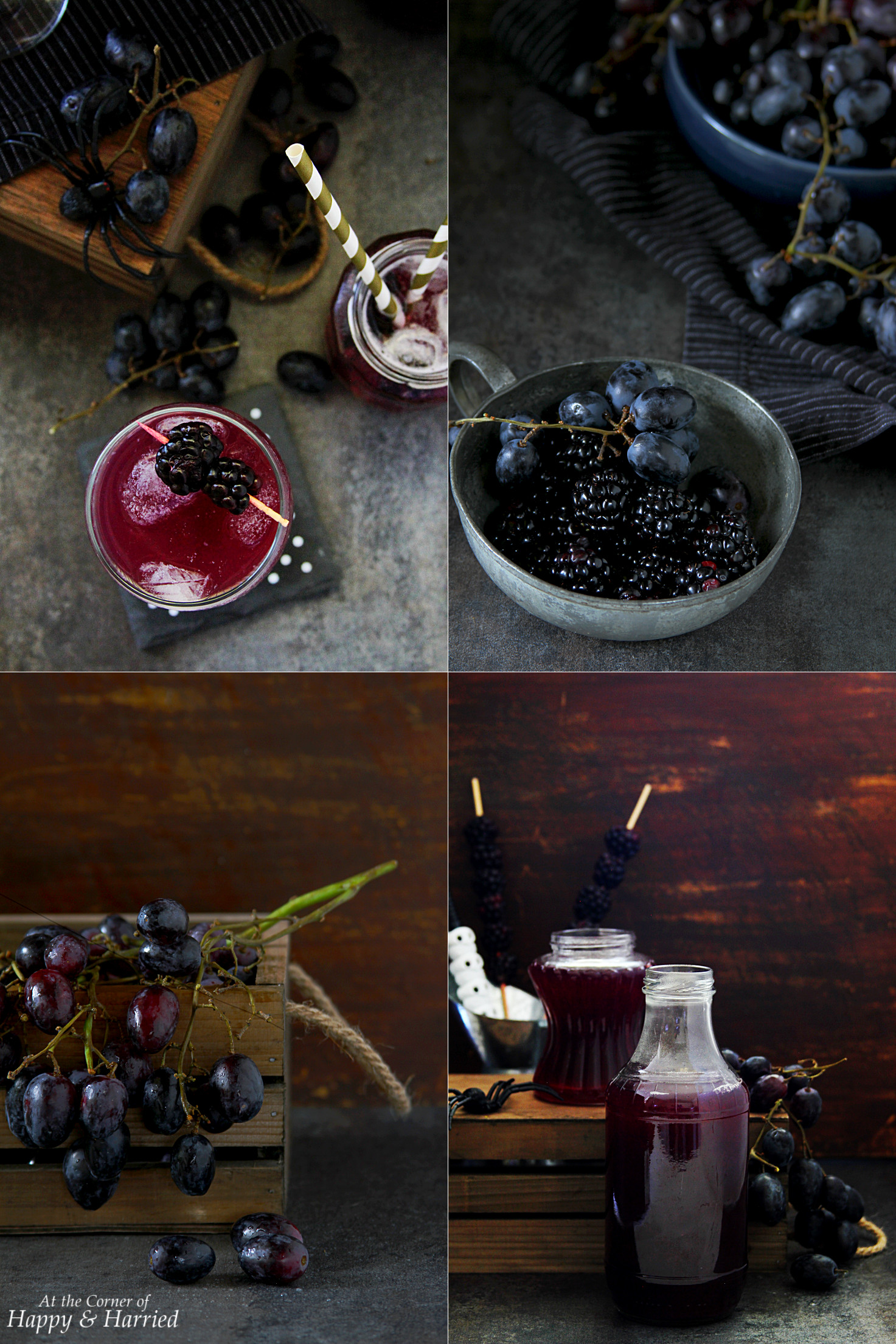 Spooky Halloween Blackberry Grape Punch